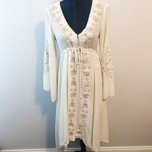 Free People embroidered boho dress size small